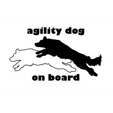 sticker agility border collie